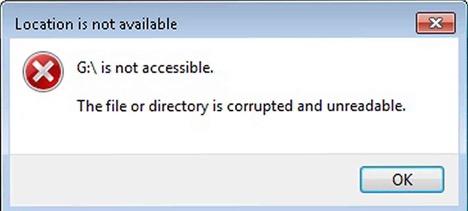 """Laptop xuất hiện thông báo lỗi """"corrupted"""""""